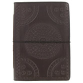 "Embossed Leather Journal - 6 1/2"" x 9 1/2"""